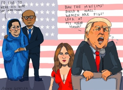 Artist Anna Gensler political cartoon